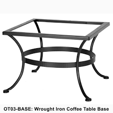 Ow Lee San Cristobal by Ow Lee Standard Wrought Iron Coffee Table Base Ot03 Base