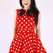 shop minnie mouse polka dot dress on wanelo