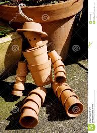 terracotta flower pot man stock photo image of ornamental 29809244
