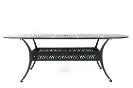 oval aluminum patio table mathis brothers patio furniture lattice patterned aluminum oval