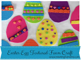 foam easter eggs easter egg craft with textured foam