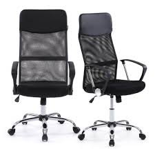 ikayaa ergonomic mesh adjustable office executive chair stool high