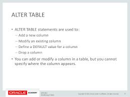 alter table modify column modifying a table