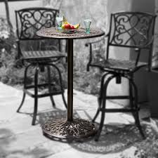 Cast Aluminum Patio Table And Chairs Outdoor Patio Furniture Cast Aluminum Bar Height Bistro