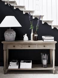 sofa lovely black sofa table decor console styling entryway
