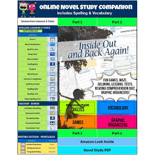 inside out and back again novel study guide tests vocabulary