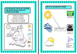 weather worksheet teach esl today