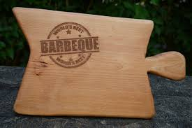 unique gift engraved barbeque cutting board wooden cutting board