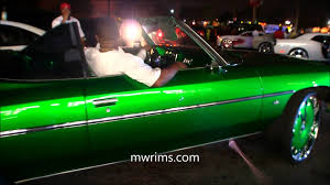 75 chevy caprice classic donk vert kandy green paint on 28