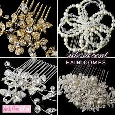 hair brooch design bridal hair combs side accent and tiara combs