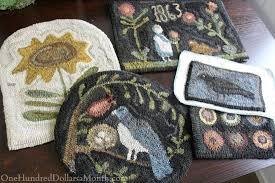 Wool Hook Rug Kits Primitive Rug Hooking Supplies Roselawnlutheran