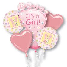 deliver balloons nyc its a girl mylar party balloon bouquet inflated balloon shop nyc