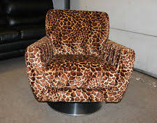 Printed Fabric Armchairs Animal Print Living Room Armchairs Ebay