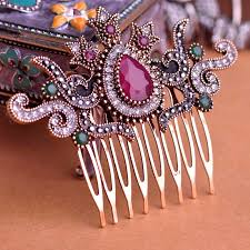 antique hair combs blucome vintage women hair combs brand turkish green crown big