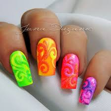 36 outstanding orange nail designs
