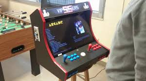 Bar Top Arcade Cabinet Bartop Arcade With Coin Acceptor And Trackball On A Raspberry Pi 3