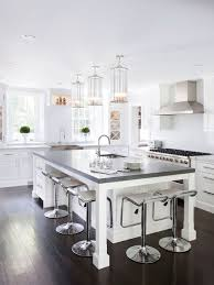 White Island Kitchen White Kitchen Island Houzz