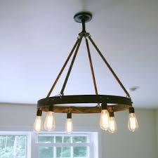 Hanging Edison Bulb Chandelier Lighting Beautiful Edison Bulb Chandelier For Home Interior