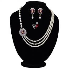 elegant pearl necklace images Pearl necklace sets elegant pearl set in beautiful shiny ruby jpg