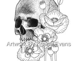 poppy coloring sheet etsy