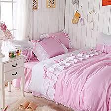 Lilac Bedding Sets Fadfay Home Textile Korean White Ruffle Bedding