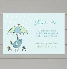 baby shower thank you notes sle letter wording exle