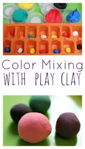 color mixing free choice activity for preschool great for hand