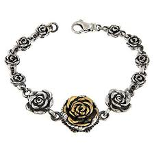sterling silver rose bracelet images King baby jewelry sterling silver and goldtone rose bracelet jpg
