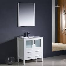 Bathroom Vanities And Sinks Shop Fresca Bari White Undermount Single Sink Bathroom Vanity With