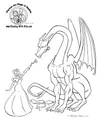 fantasy dragon coloring pages