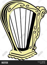st patrick u0027s day irish harp clip vector u0026 photo bigstock