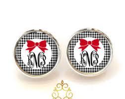 Monogrammed Earrings Monogram Jewelry