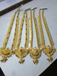 long necklace designs images Latest gold haram designs 2017 pinterest necklace designs jpg