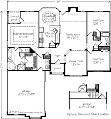 floor plans southern living ivy spring cottage frank betz associates inc southern living