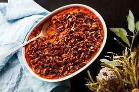 sweet potatoes recipes for thanksgiving 3 ingredient sweet potato casserole with maple pecans recipe