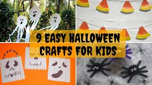 9 easy halloween crafts for kids youtube