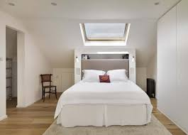 Small Loft Bedroom Decorating Ideas Unusual White Small Attic Bedroom Ideas With Glass Ceiling Window