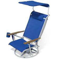 Outdoor Folding Chairs With Canopy The Suntracking Beach Chair Hammacher Schlemmer