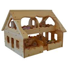 Dolls House Furniture Sets Wooden Dollhouse Montessori Wood Dollhouse Montessori