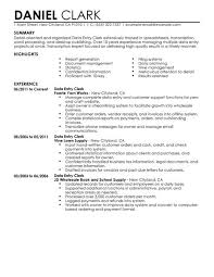 Complete Resume Examples by Best Data Entry Clerk Resume Example Livecareer