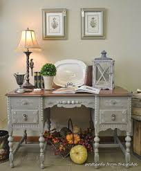 Antique Desk With Hutch Painted Antique Desk With Lots Of Carved Details Hometalk