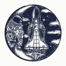 diver floats in space tattoo art astronaut in deep space t shirt