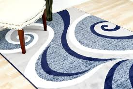 Damask Area Rugs Blue Swirls Abstract Contemporary Area Rugs Bargain Damask Rug