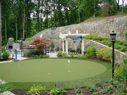 backyard putting green lighting backyard wall decorating ideas landscape traditional with stone