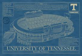 tn blueprints tennessee neyland stadium blueprint art stadium blueprint