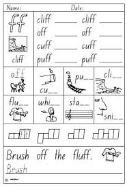 activity sheet double consonant ff english skills online