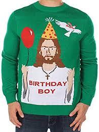 snoopy christmas sweatshirt men s christmas sweater happy birthday jesus