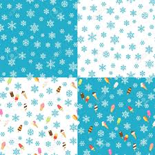 blue pattern background html ice cream and snowflakes on white and blue background set of