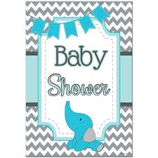 baby shower poster blue chevron baby shower poster