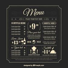drink menu template free drinks menu vectors photos and psd files free
